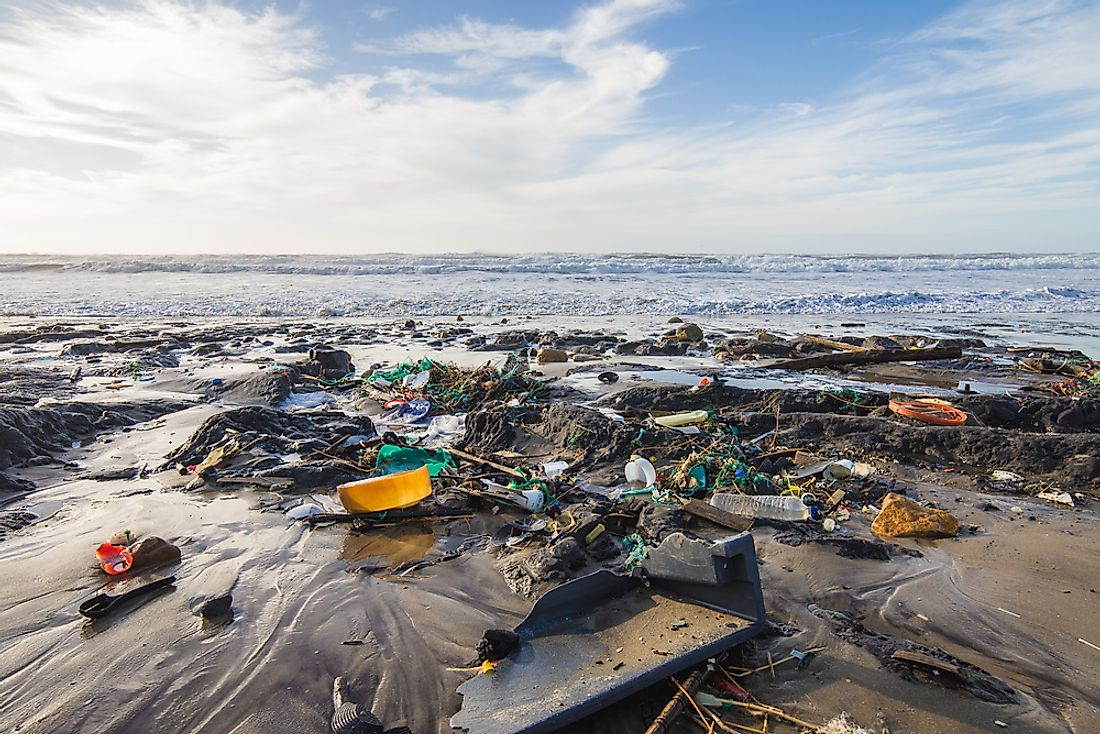 Despite environmental clean-up efforts, plastics are still making their way into ocean water. Photo credit: shutterstock.com.
