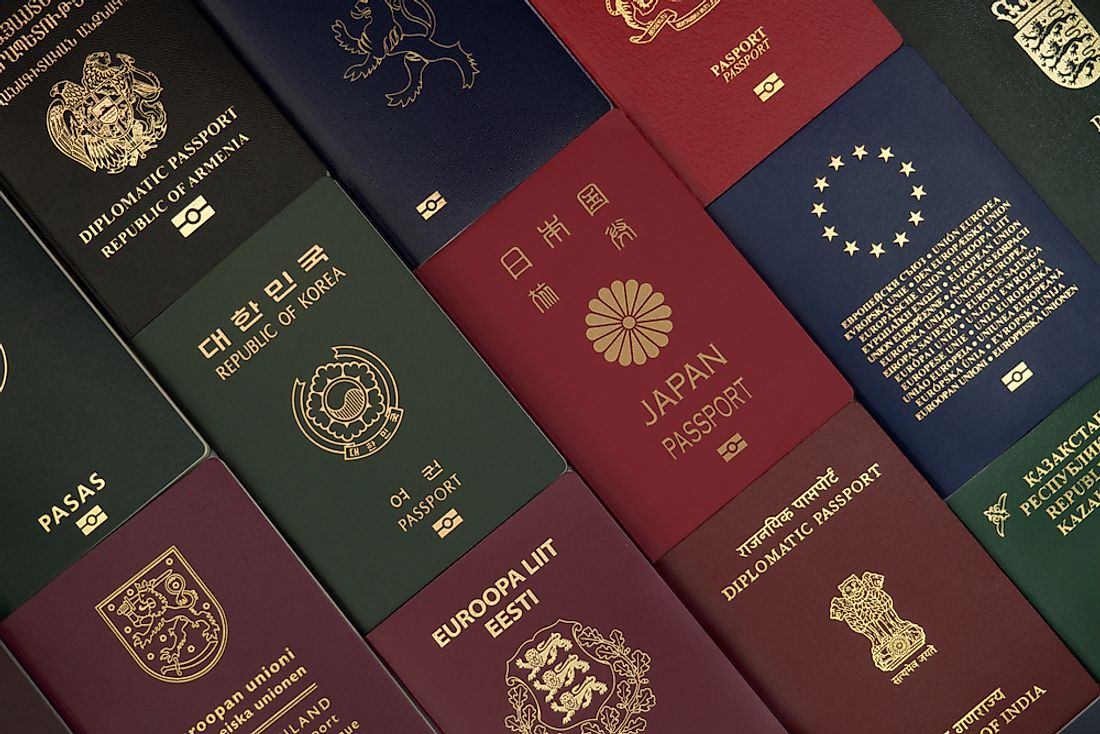 Passports from around the world.