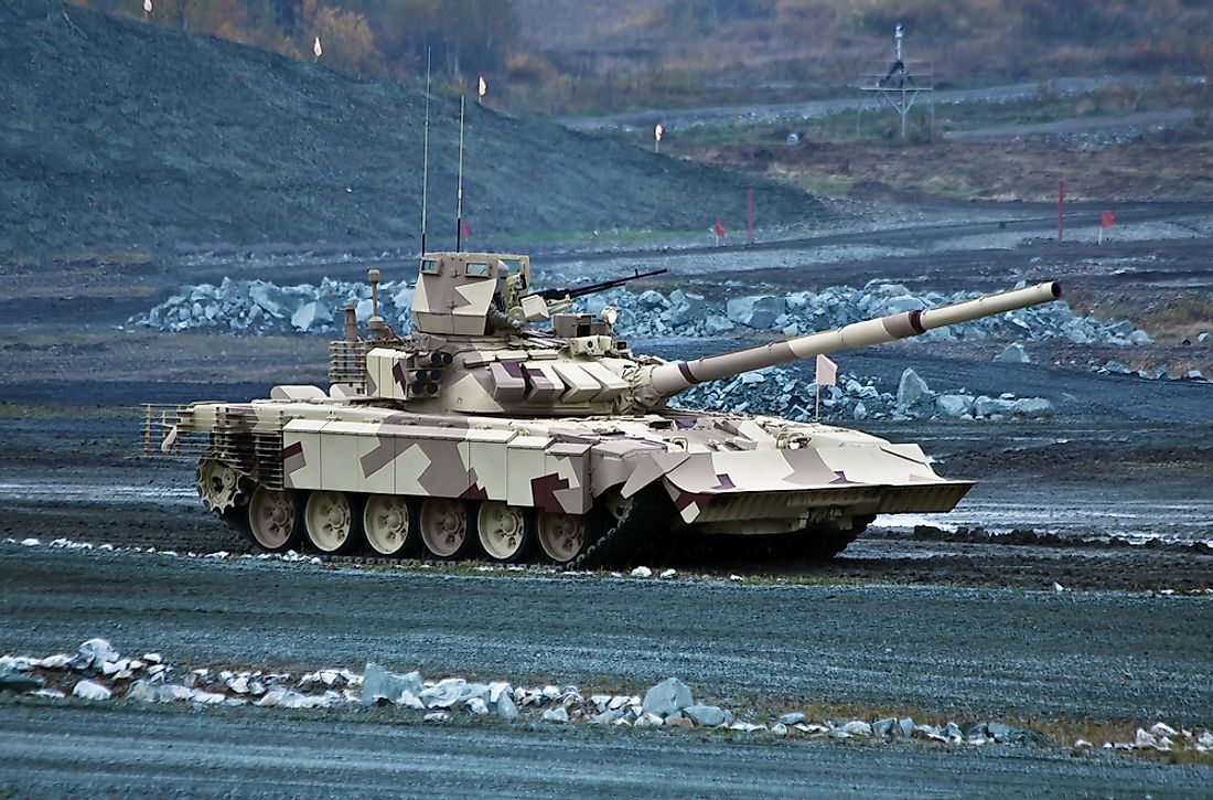 Russia has over 15 thousand battle tanks.