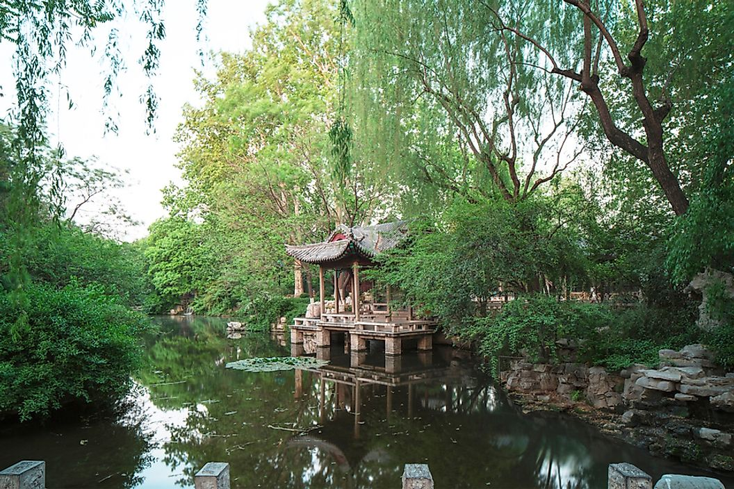 Baotu Spring in Jinan, China.