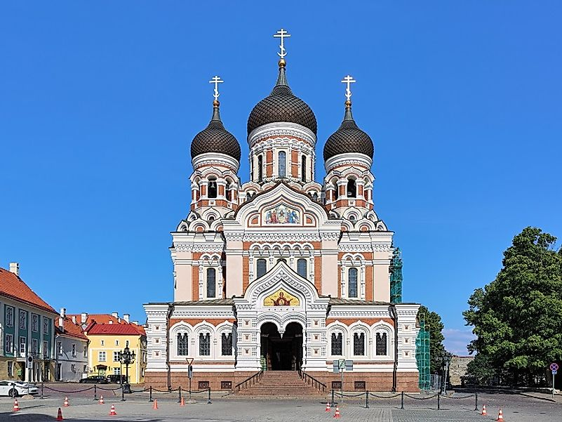 The Alexander Nevsky Cathedral, a beautiful Orthodox place of worship in Tallinn, Estonia.
