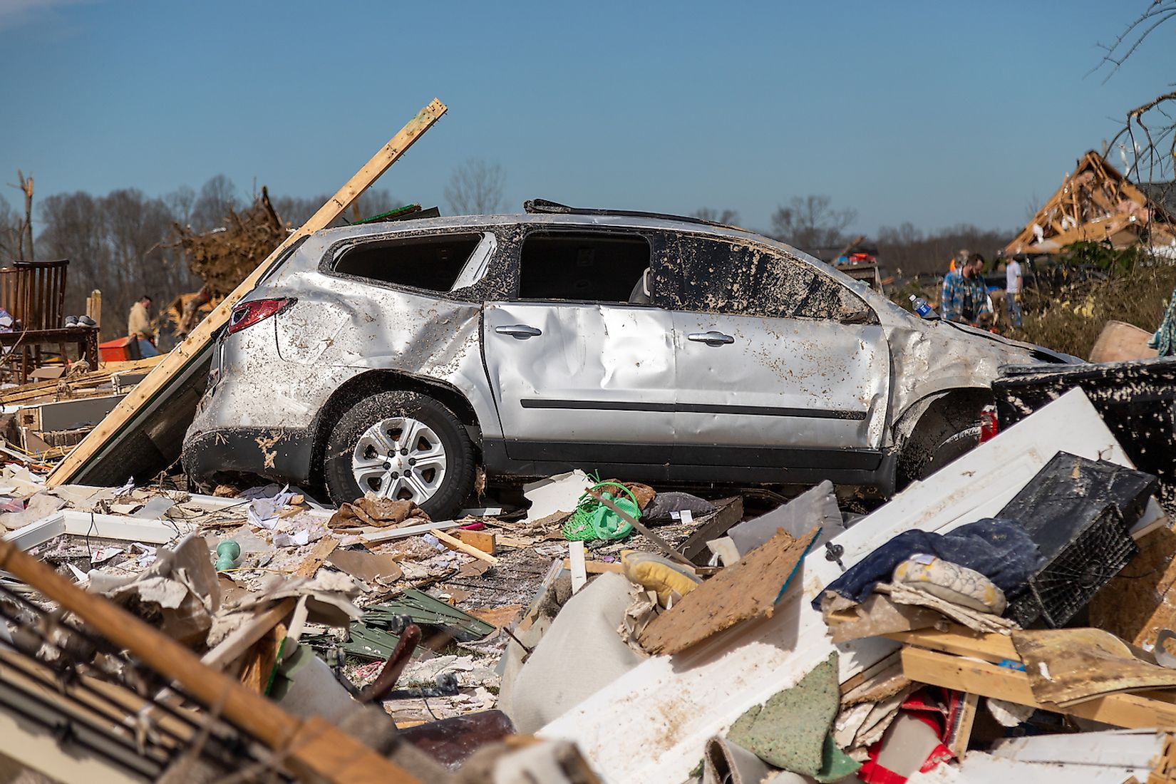 Debris is seen following a deadly tornado Wednesday, March 3, 2020, in Cookeville, Tennessee. Image credit: Jason Whitman/Shutterstock.com