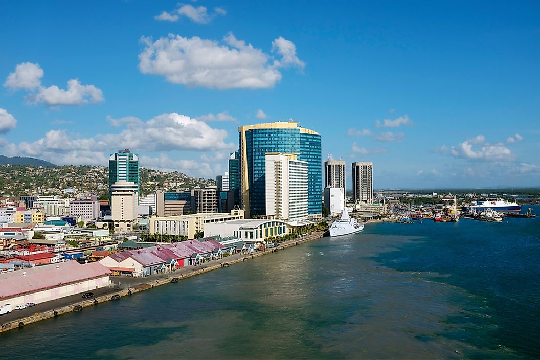 A view of King's Wharf in Port of Spain, Trinidad and Tobago.