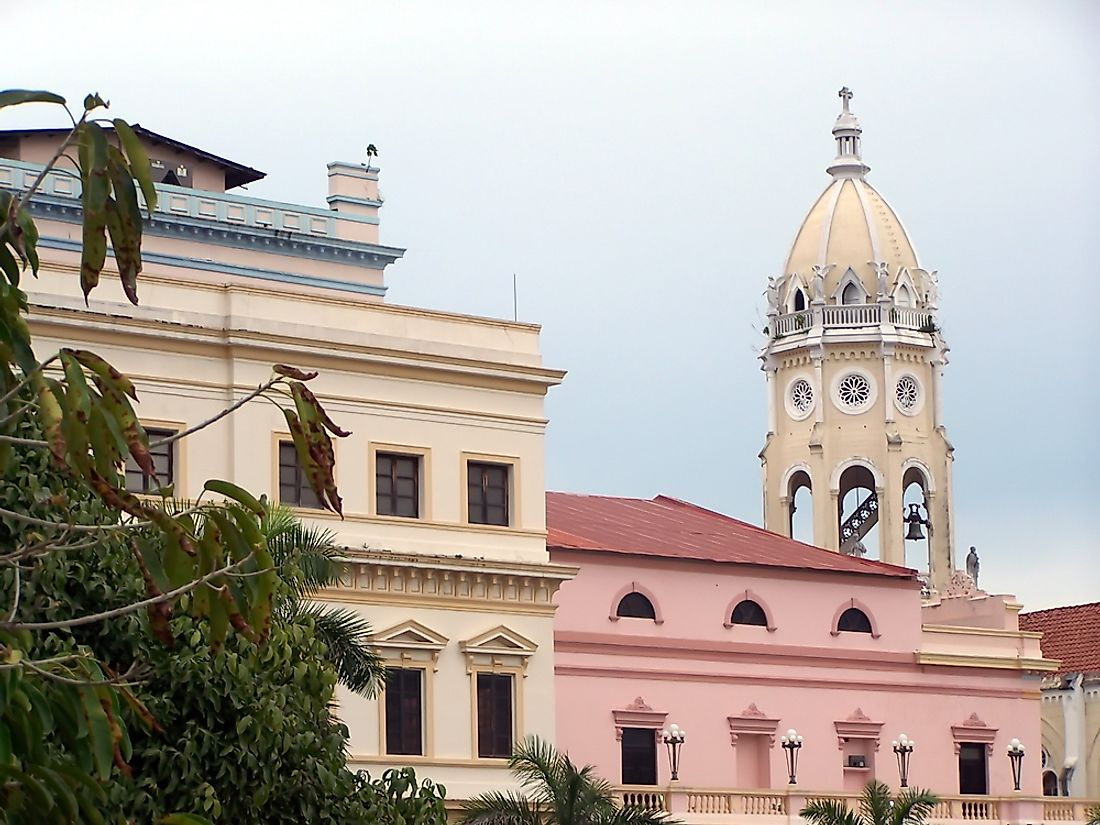 Government buildings in Panama City, Panama.