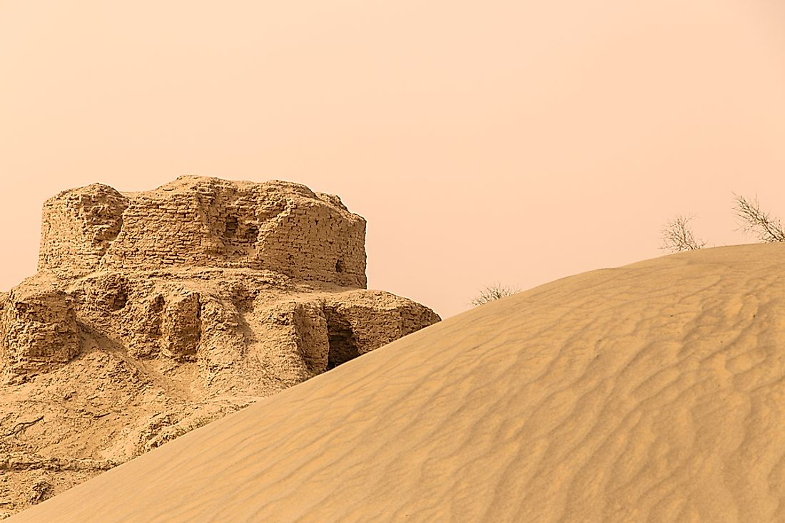 The Lop Desert in China.