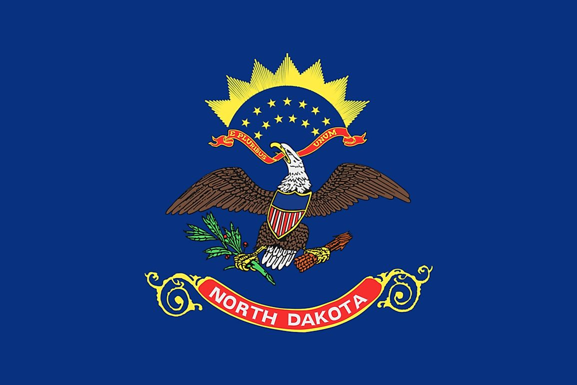 The state flag of North Dakota features the US Coat of Arms.