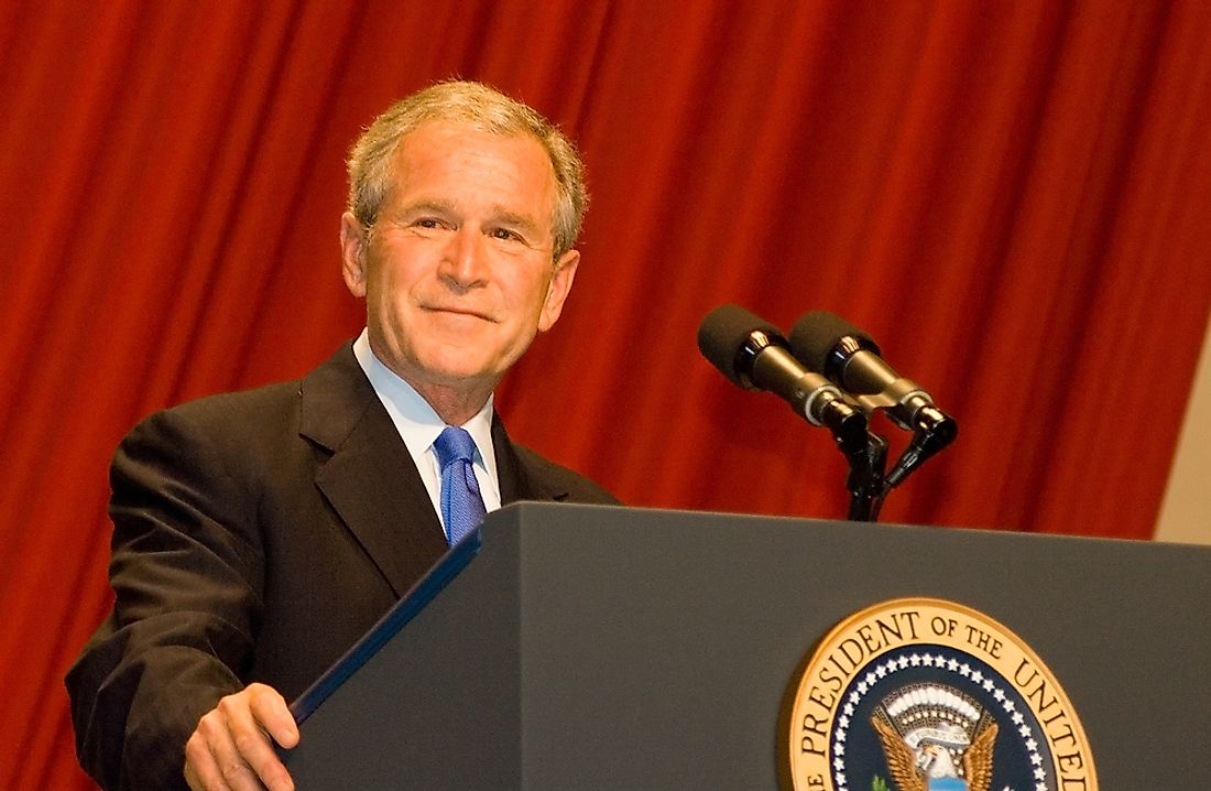 George W. Bush in 2008. Editorial credit: Joseph August / Shutterstock.com.