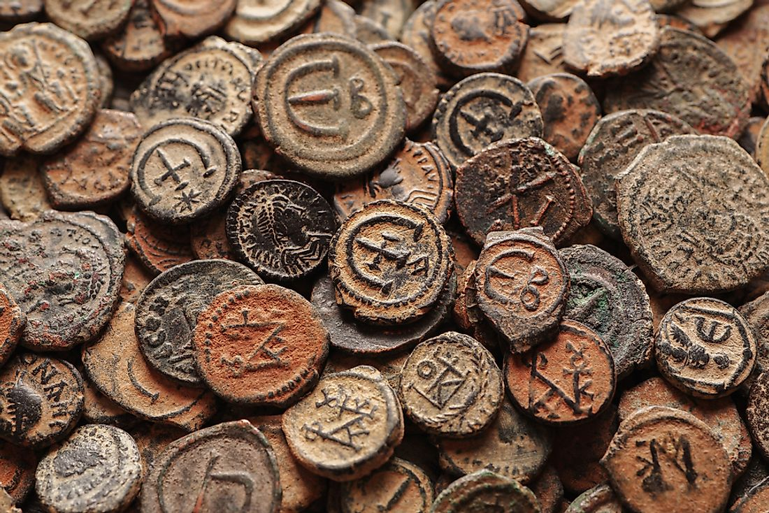 Recreation of old Byzantine coins. The Manzikert is significant for representing the end of the Byzantine Empire.