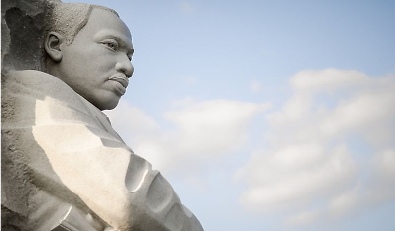 Statue of Martin Luther King Jr. in Washington, D.C. Editorial credit: lazyllama / Shutterstock.com.
