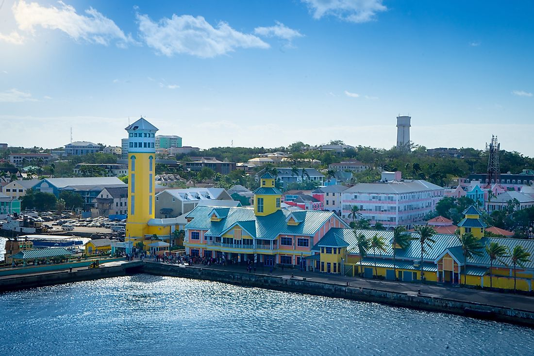 Nassau, the Bahamas. The Bahamas is the Caribbean country with the highest GDP per capita.