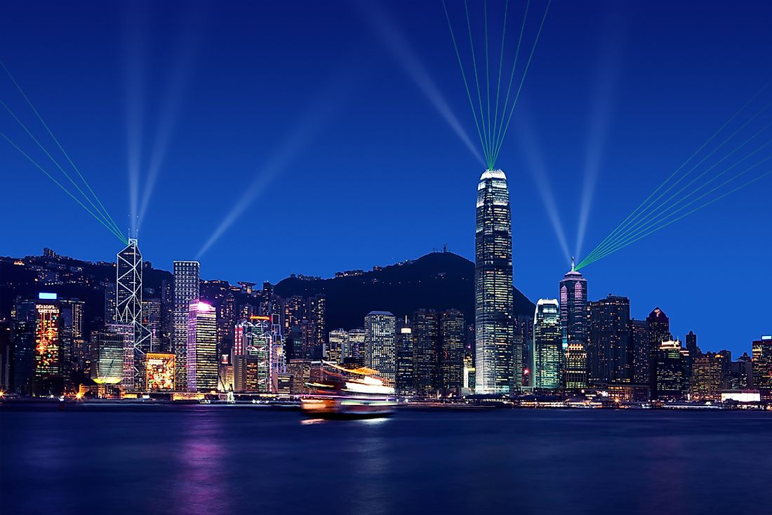 The Symphony of Lights in Hong Kong.