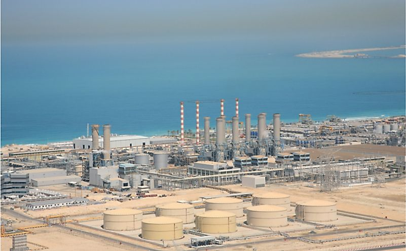 Water desalination plant in Dubai.