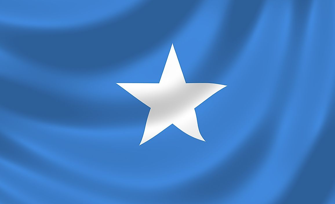 The flag of Somalia.