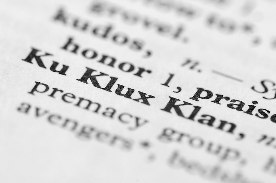 The Klu Klux Klan were a hate group originating in the United States.
