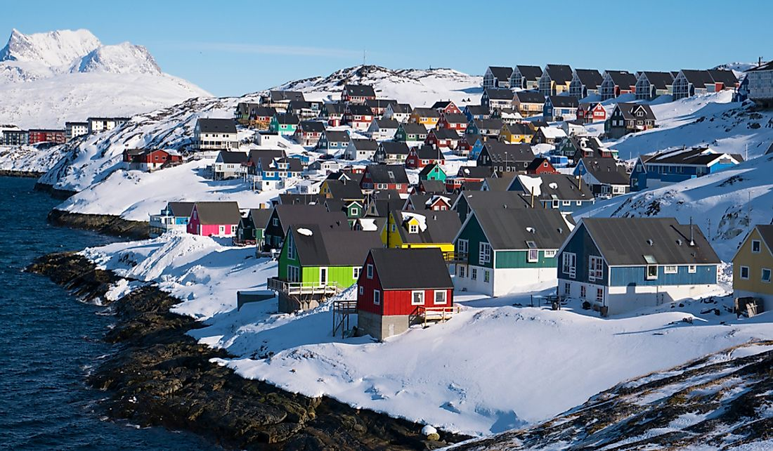 Nuuk, the capital of Greenland.