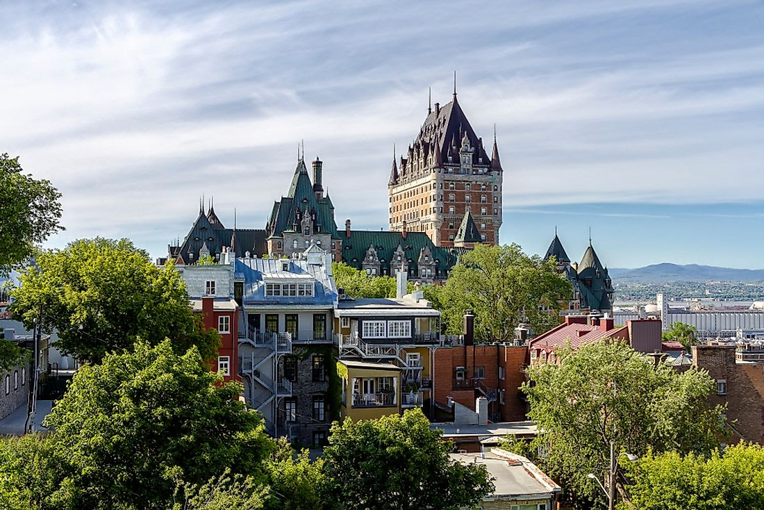 Quebec City, the second-largest city and the capital of Quebec.