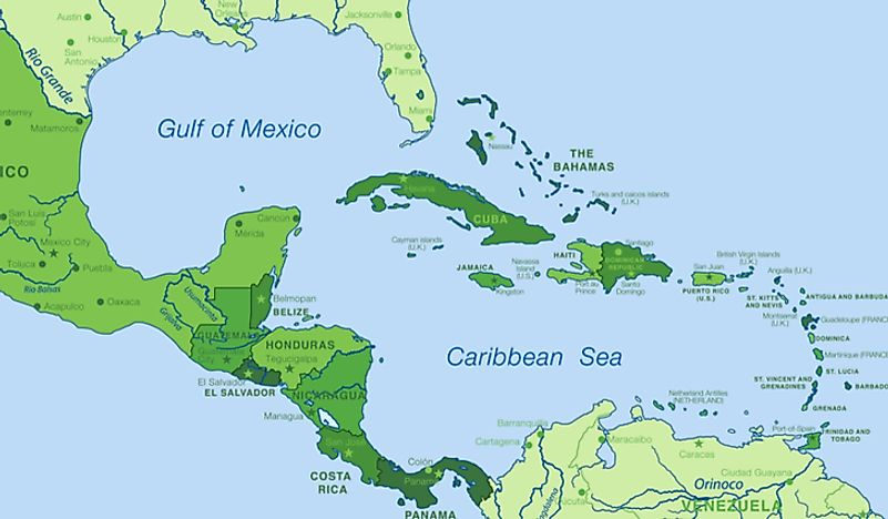 A map showing the location of Puerto Rico in the Caribbean.