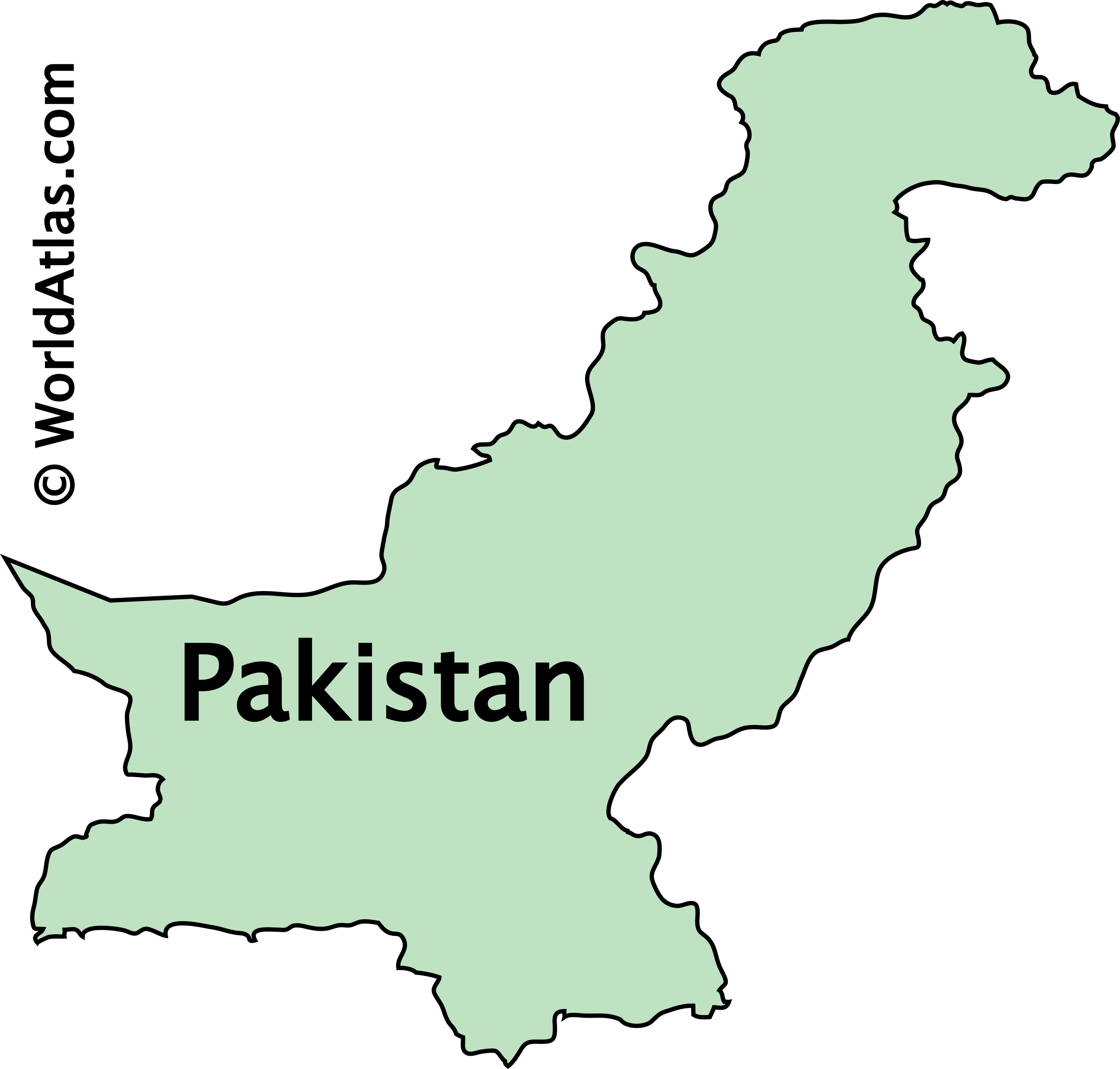 Outline Map of Pakistan