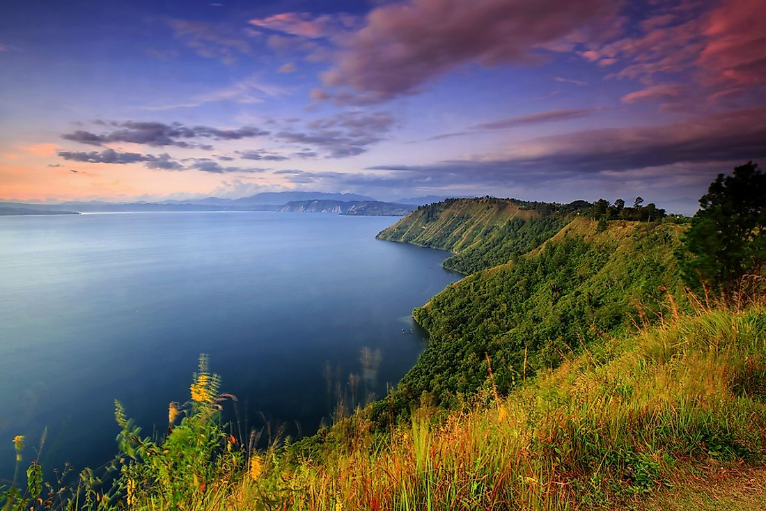 Lake Toba was created by an eruption on Sumatra about 75,000 years ago.