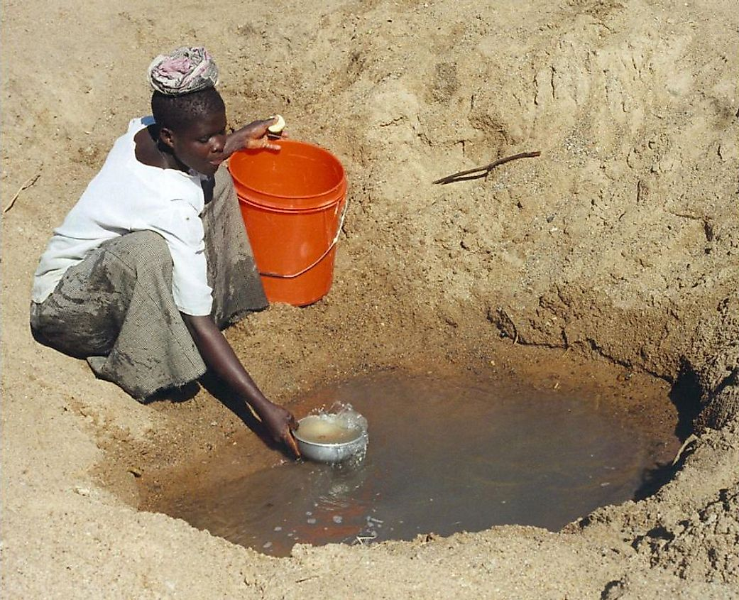Only 61 percent of people in Sub-Saharan Africa have improved drinking water.