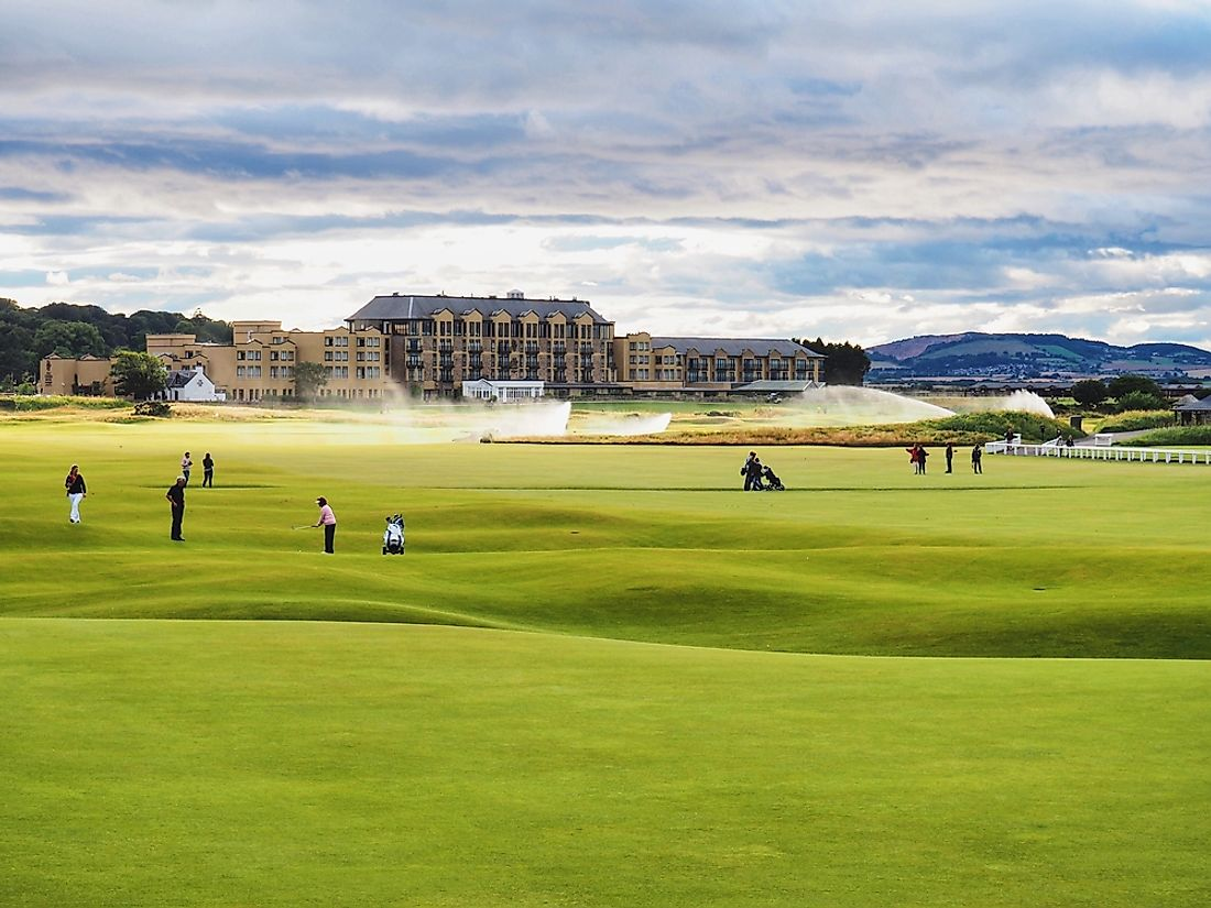Scotland's St Andrews is one of the oldest golf courses in the world.