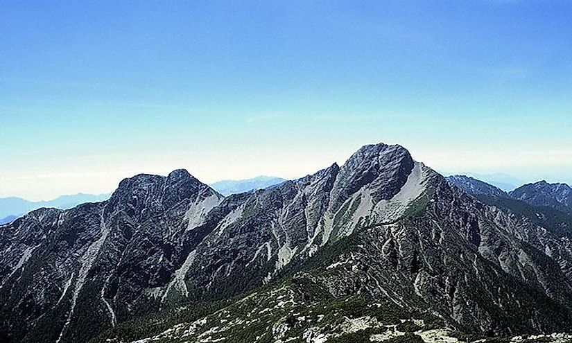 Mount Yushan, the tallest peak in Taiwan.