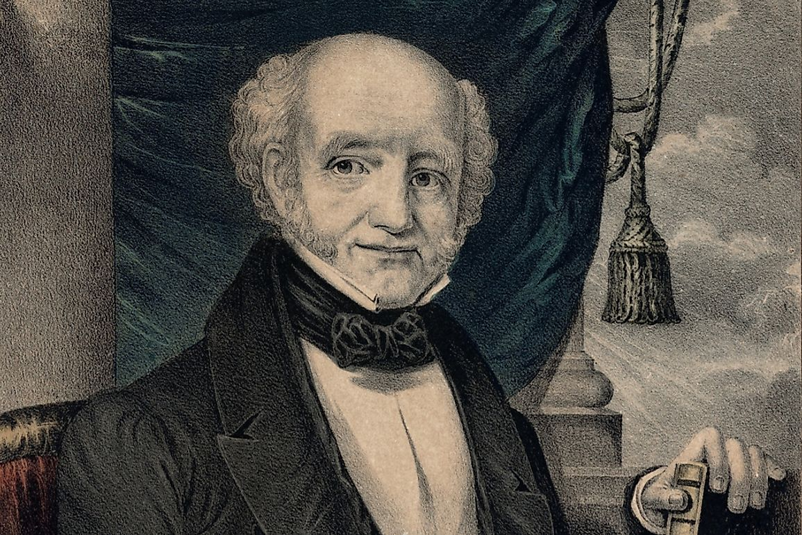 Martin Van Buren served as the eighth US President from March 4, 1837 to March 4, 1841.