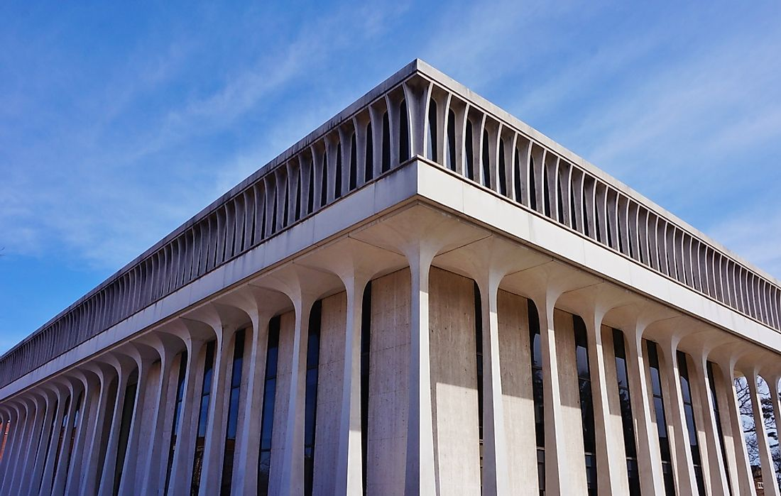 The Woodrow Wilson School of Public and International Affairs, Princeton University. It was designed by Minoru Yamasaki. Editorial credit: EQRoy / Shutterstock.com.