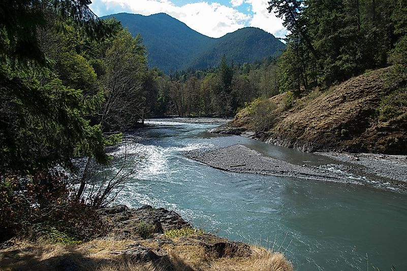 The Elwha River near its source waters in Olympic National Park in the U.S. state of Washington.