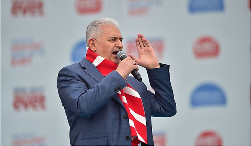 Binali Yıldırım, the incumbent Prime Minister of Turkey. Editorial credit: thomas koch / Shutterstock.com.