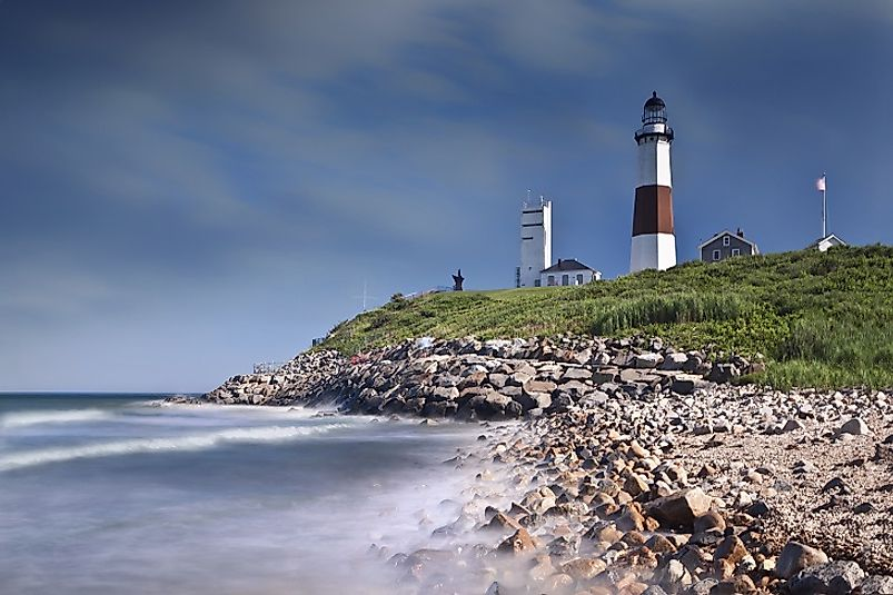 "Montauk Point Light (a.k.a. ""The End"") on the far eastern shores of Long Island."