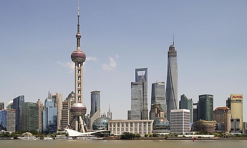 The skyline of Shanghai, China