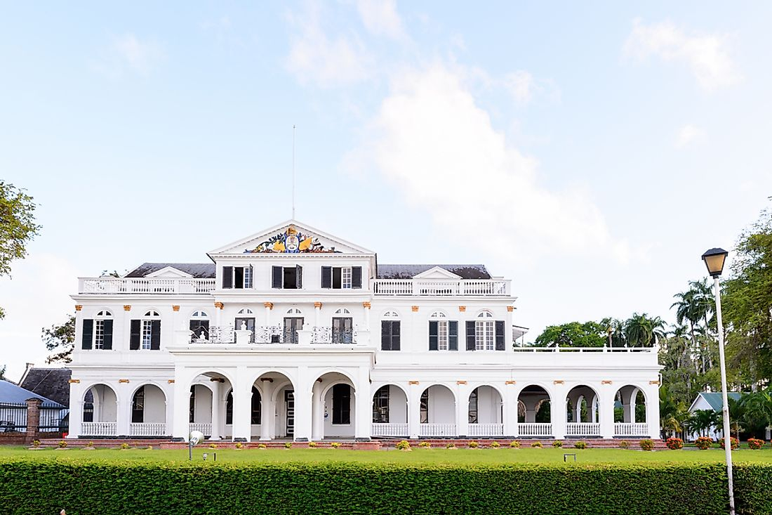 The Presidential Palace of Suriname located in Paramaribo. Editorial credit: Anton_Ivanov / Shutterstock.com