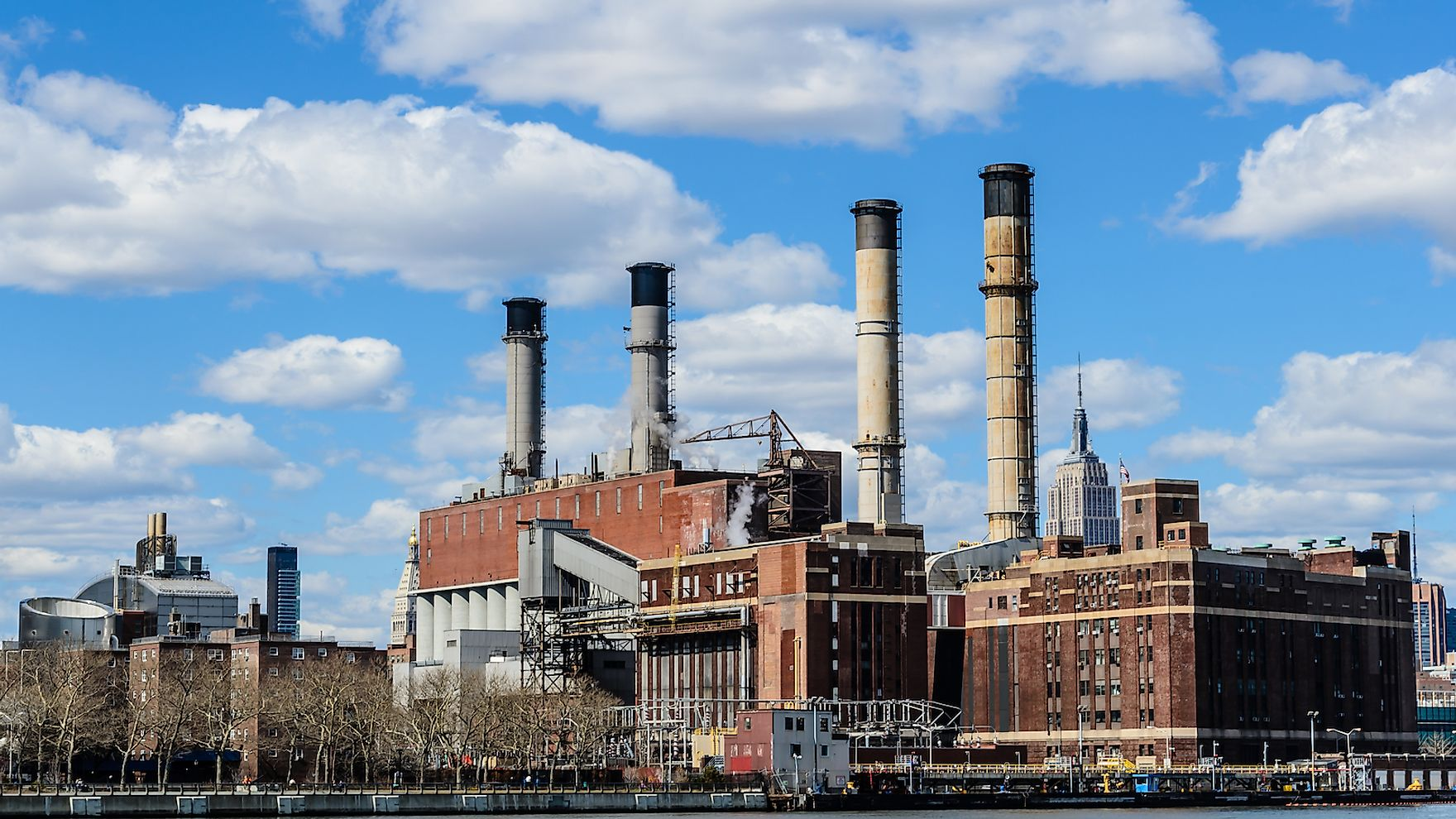 Industrial buildings in Manhattan, New York, USA.