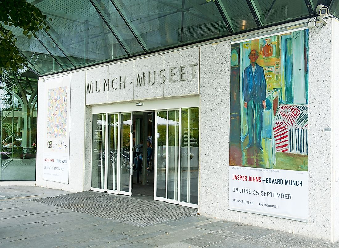 Editorial credit: Evikka / Shutterstock.com. The Munch Museum in Oslo is named for Munch.