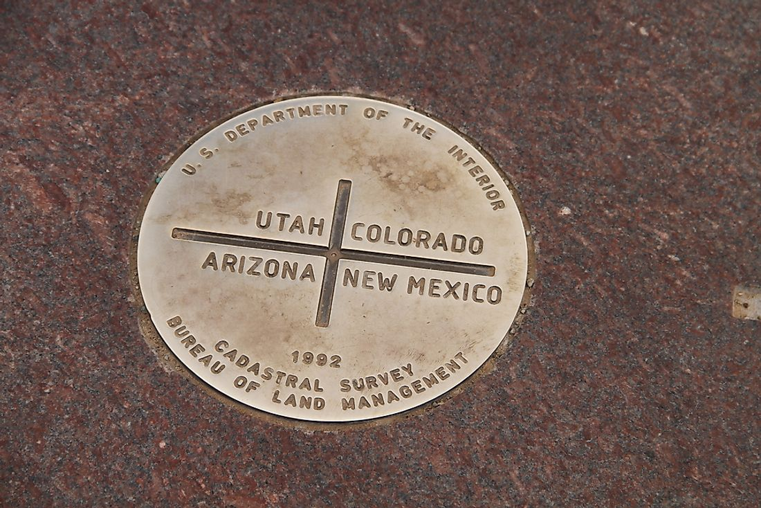 The Four Corners is the point where the borders of Colorado, New Mexico, Utah, and Arizona all meet.