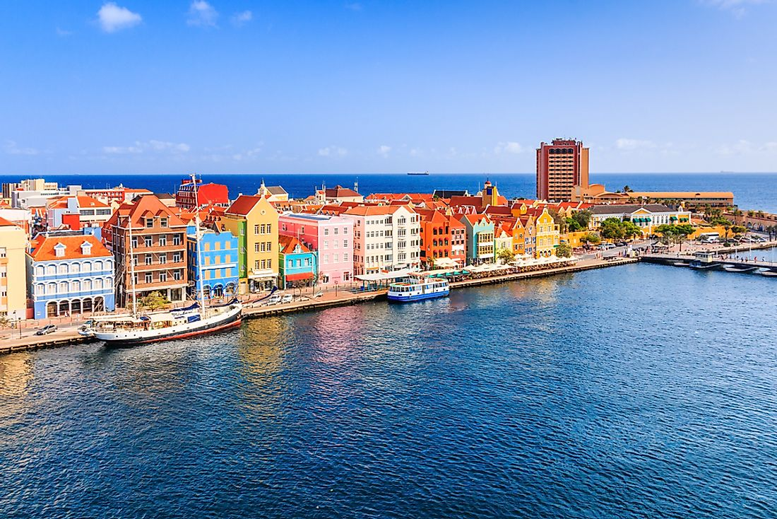 Downtown Willemstad, the capital of Curacao, is pictured here.
