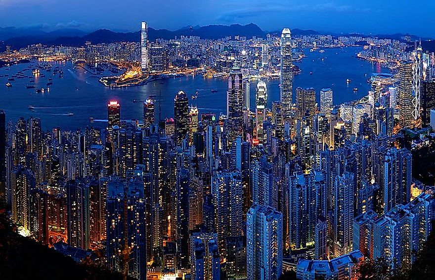 Hong Kong, a major tourist and financial hub, has a huge income disparity with neighboring Mainland China.