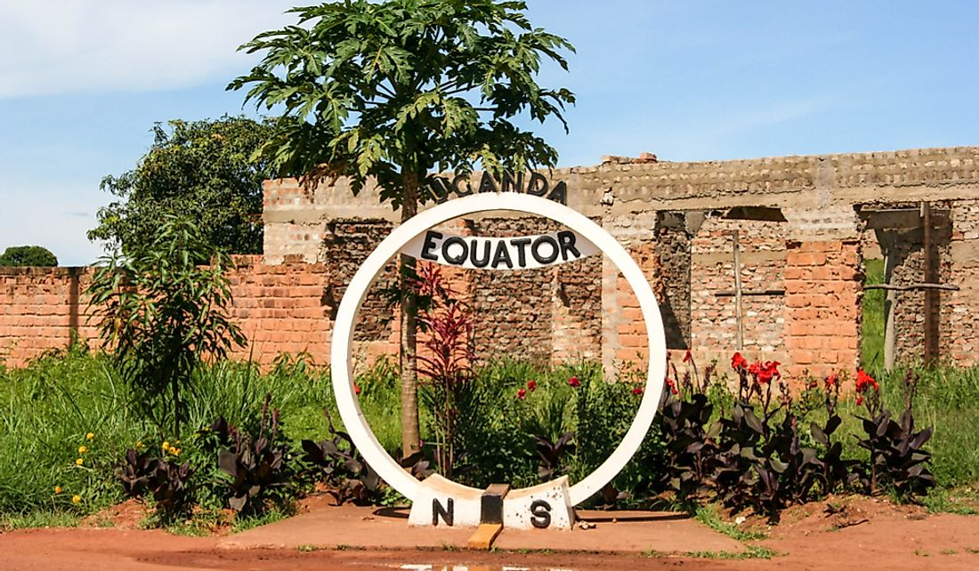 Line of the Equator running through Uganda.