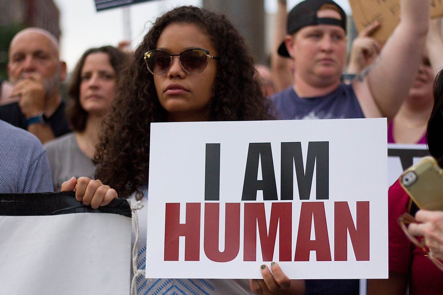 Demonstrators in Philadelphia participate in a rally against white nationalism and other forms of racism and hate organized by the interfaith advocacy organization. Image credit: Michael Candelori/Shutterstock.com