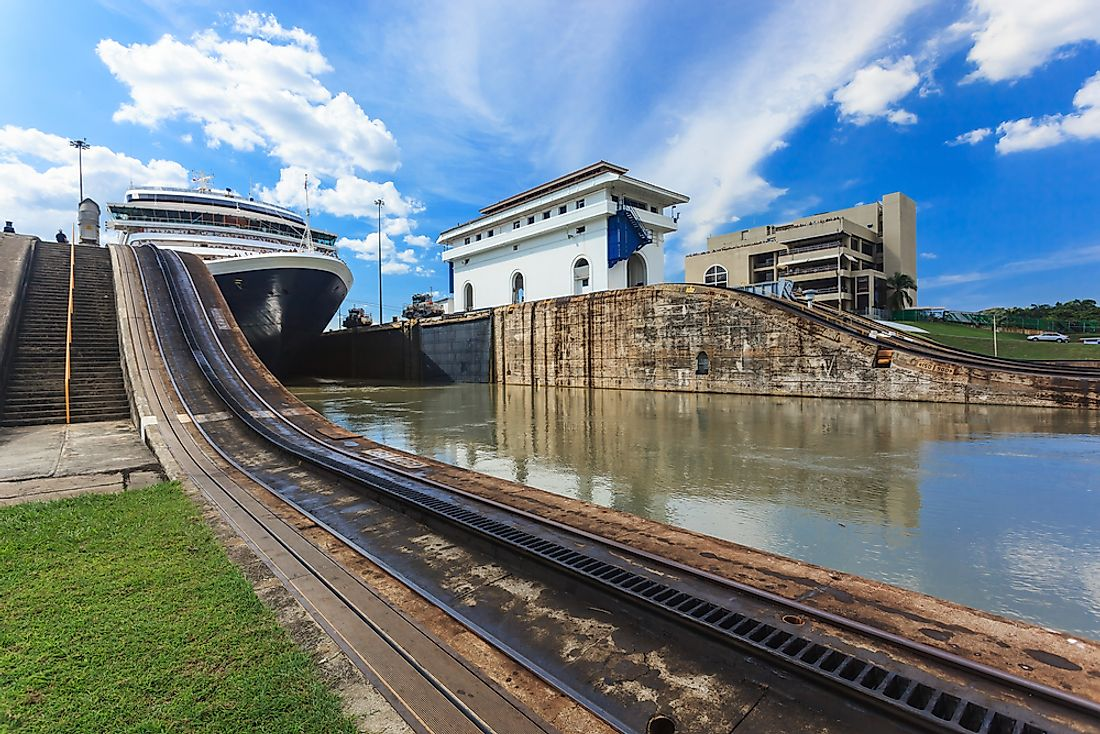 The Panama Canal, found where North and South America meet.