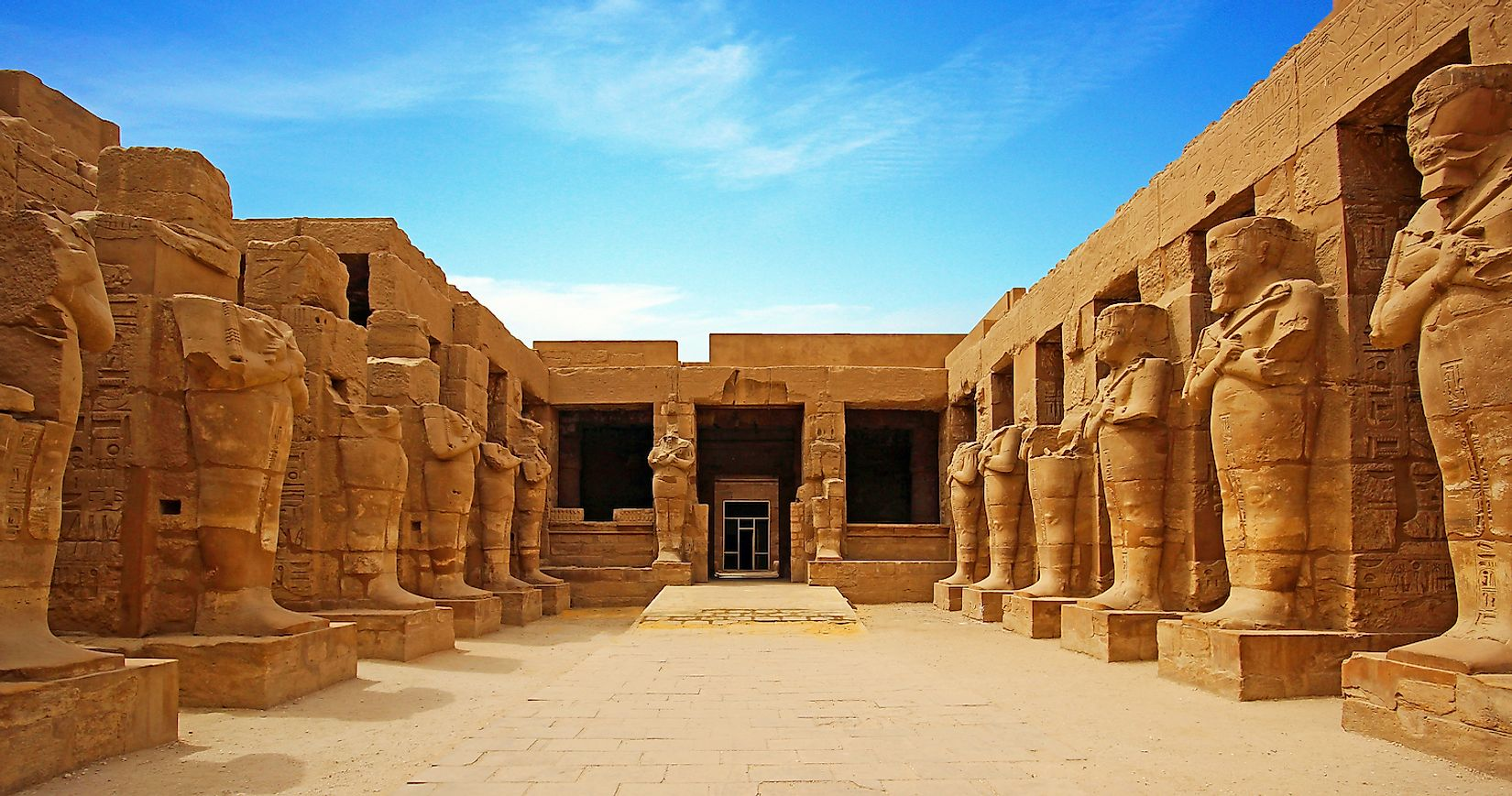 Ancient ruins of Karnak temple in Luxor. Egypt. Image credit: Zbigniew Guzowski/Shutterstock.com