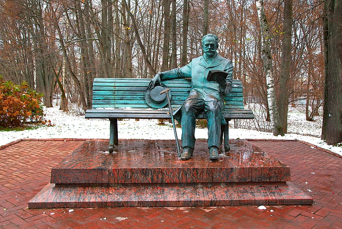 Commemorative statue of Pyotr Hyich Tchaikovsky. Editorial credit: Pavel_D / Shutterstock.com