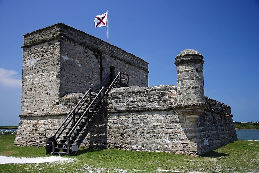 Fort Matanzas was built between 1740 and 1742.