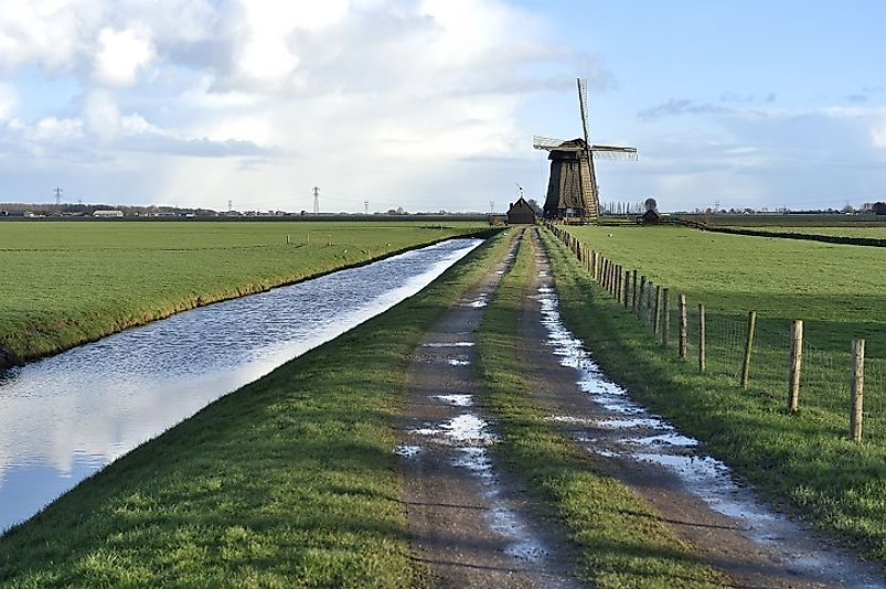 Windmills, such as this one in Stompetoren, have used wind power to pump and drain water from large parts of the Netherlands for centuries.