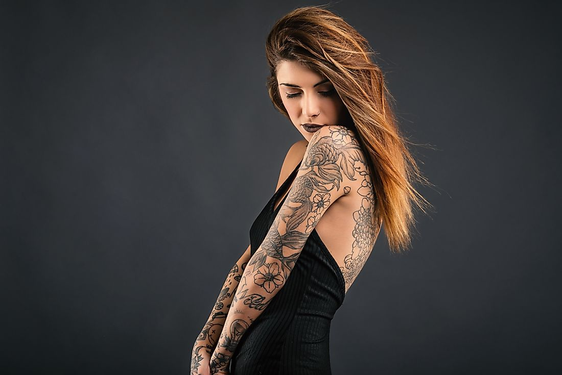 Tattoos vary in popularity from country to country.