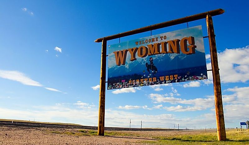 Wyoming is the least populous American state. Editorial credit: Everett Media / Shutterstock.com.