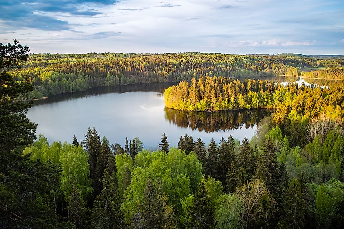 Finland is home to more lakes than most other countries in the world.