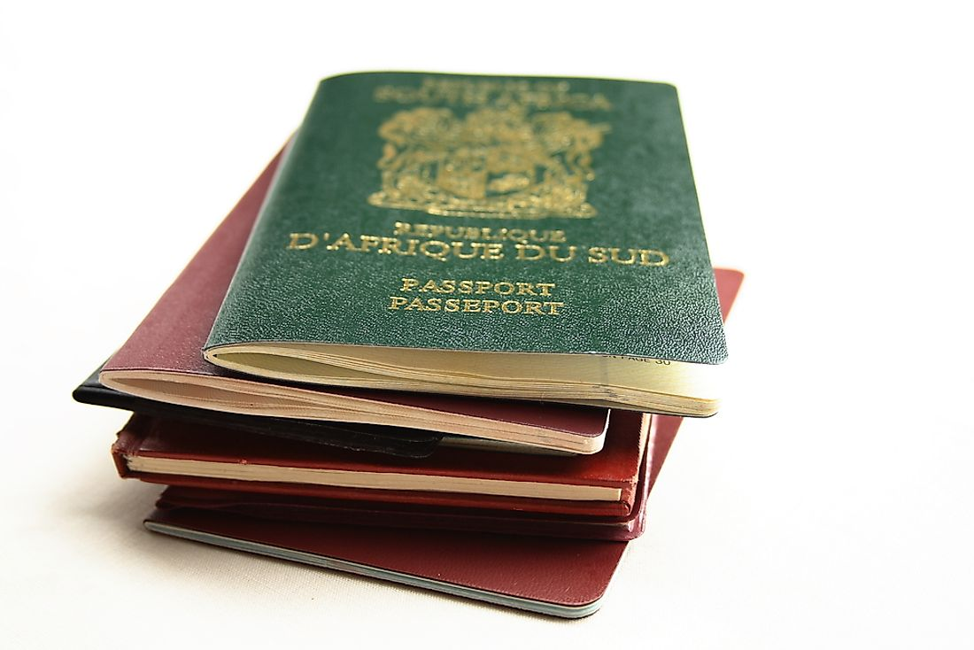 A collection of African passports.