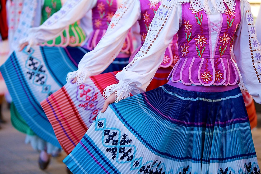 Traditional Belarusian costumes.